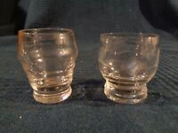 Pack 2 Kleine Gläser Antik Depareille Graviert Hand Jugendstil Art Deco