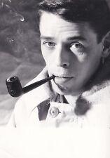 PHOTOGRAPHIE ORIGINALE du chanteur Jacques Brel original photographe Leonard