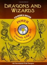Dragons and Wizards Cd-Rom and Book Dover Electronic Clip Art