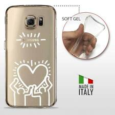 Galaxy S7 TPU CASE COVER GEL PROTETTIVA TRASPARENTE KEITH HARING