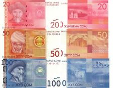 Kyrgyzstan 3 Note Set: 20 to 100 Som (2009/2010) - p24, p25, p26 UNC