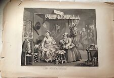 original print after Hogarth THE HARLOT'S PROGRESS - moll common prostitute 1800