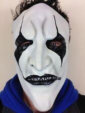 Jim Root Style Slipknot Mask Latex Heavy Metal Halloween Black & White Face
