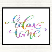 Relax Time Rainbow Quote Dinner Table Placemat