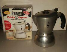 BIALETTI MUKKA EXPRESS CAPPUCCINO MAKER 2 CUP STOVETOP ORIGINAL BOX ALUMINUM