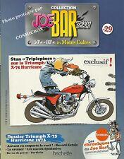 Joe Bar Team BD revue moto TRIUMPH X-75 HURRICANE & Speed Triple motor booklet