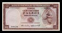 B-D-M Timor 100 Escudos 1963 Pick 28a Sign 1 SC UNC With Spots