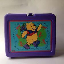 Disney Winnie the Pooh Plastic Lunch Box W/Thermos