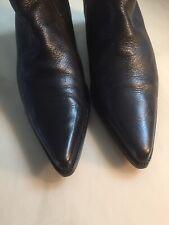 MIU MIU STIEFEL / Stiefelette Gr. 38 schwarz deftiges Leder sehr schöner Zustand