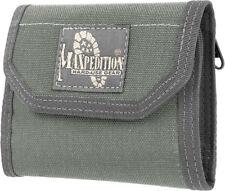"Maxpedition CMC Wallet 0253F Closed, empty size: 5"" L x 3.5"" H x 1"" W. Open, emp"
