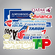 55 Pcs Airline Logo Waterproof Stickers Aviation Travel Suitcase Laptop Decal