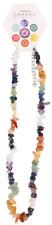 Chakra Balancing GEMSTONE Multicolored Crystals Necklace Yoga Reiki Awareness