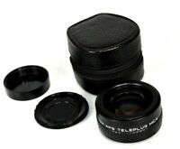 Teleplus MC4 2x APS Camera Lens M42 screw Mount + Cap Lens Cover + Case slr dslr