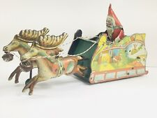 Vintage Ferdinand Strauss Santee Claus Tin Windup Toy