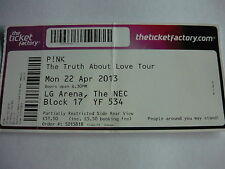 PINK - 2013 THE TRUTH ABOUT LOVE TOUR CONCERT TICKET