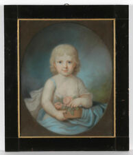 """Erneste von Seelhof"", North German School, listed pastel portrait, late 1790s"