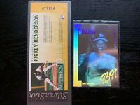 1991 SilverStar Holograms & AuthenTicket - Rickey Henderson