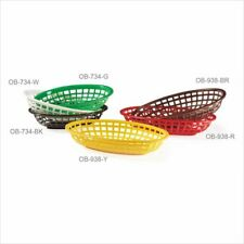 New Listing9.5 inch x 6 inch Oval Basket 2 inch Deep Black Polycarbonate