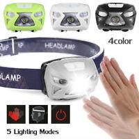 12000LM LED Capteur de mouvement Lampe frontale USB Rechargeable Lampe de poche