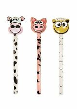 3 Inflatables Farm Animals Sticks 118cm Party Kids Child Blow Up Cow Pig Sheep