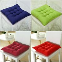 Indoor Home Dining Kitchen Office Cushion Soft Seat Pads Tie On-Square Chair