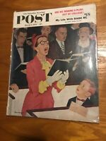 The Saturday Evening Post March 7, 1959 - Mrs Babe Ruth - Dick Sargent Cover