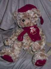 PLUSH TEDDY BEAR BACKPACK, HARRODS, ENGLAND, ADJUSTABLE STRAPS, GORGEOUS (#B49 )