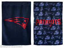 """New England Patriots 2- Sided 29"""" x 43"""" Suede Glitter Flag"""