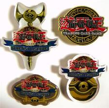 4 YU-GI-OH! Trading Card Game Duelist League Pins, MINT