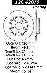 31306DS (FRONT 2pcs) Performance Sport Dimpled Slotted Brake Disc Rotor (2 pc)