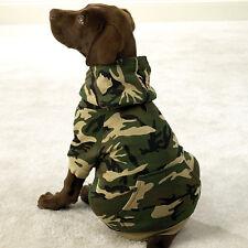 SMALL GREEN CAMO HOODIE Dog Sweatshirt Sweater FLEECE LINED Dog Coat USA