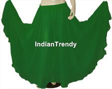 Black - Chiffon Skirt Belly Dance Boho Gypsy Ethnic Dress 9 Yard Flamenco Jupe