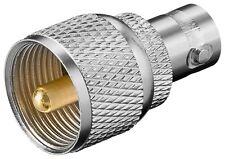 BNC-Kupplung auf UHF-Stecker mit Goldkontakten