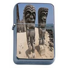 Tiki Statues D1 Windproof Dual Flame Torch Lighter Polynesian