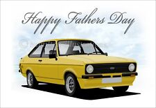 Ford Escort Mk2 Mexico Sport RS  Fathers Day Classic Car Greetings Card **FD Y**