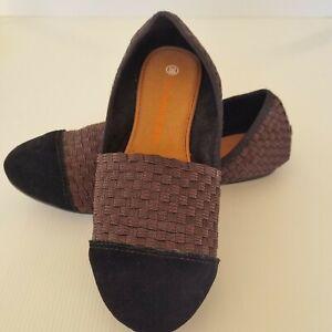 Bernie Mev size 39 'Leslie' Brown Metallic Comfort Slip On Ballet Flat