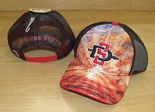 SAN DIEGO STATE AZTECS MESH SNAPBACK TRUCKER CAP HAT MENS - BRILLIANT
