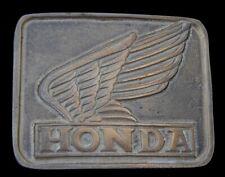 GREAT VINTAGE 1980'S HONDA MOTORCYCLES BELT BUCKLE SOLID BRASS!