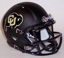 Colorado Buffaloes Alternate Matte Black Ncaa Speed Mini Football Helmet