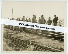 Rare JOHN FORD silent film THE IRON HORSE VINTAGE Original PHOTO Railroad man