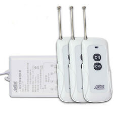 1Ch 3 Remotes 300M 30A Long Distance Wireless Remote Power Switch 3000W 85V~265V