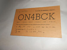 Vintage 1947 QSL Amateur Radio Card ON4BCK Brussels Belgium