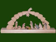 Candle Arches Pinetree with Nativity Seiffen Erzgebirge