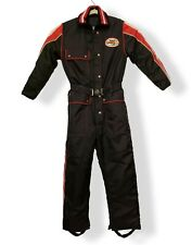 Vintage Yamaha Snowmobile Jumpsuit Racing Outfit Medium M One Piece Black Red