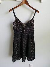 DEMOCRACY black lace dress- SZ 4