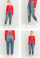 RRP - £55.00 BDG Women's Vintage Dark Blue Mom Jeans