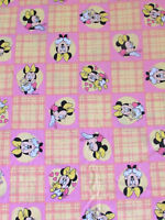 VTG RARE 90s Disney Mickey Mouse Duvet Cover Minnie Mouse Cotton Pink Yellow