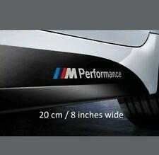 "2 x 8"" BMW M Performance Side Skirt Vinyl Decals Graphics Stickers Sills Sport"
