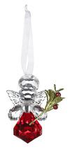 "Kissing Krystals ANGEL Teeny Mistletoe Christmas Ornament, 2.5"" Tall, by Ganz"
