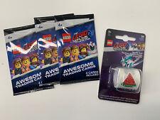 Lego Movie 2 3x Trading Cards Plus Sticker Roll